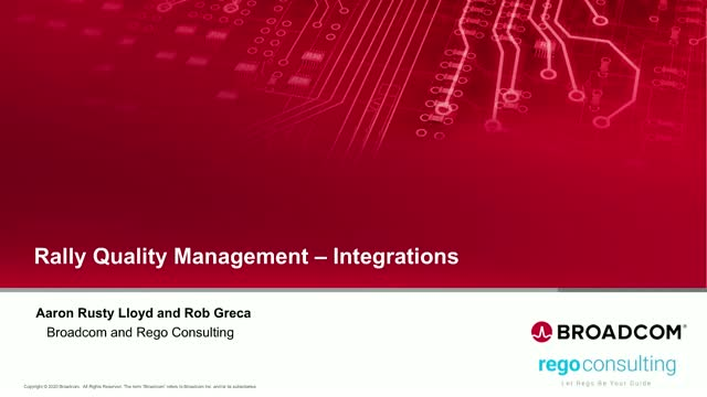 Rally Quality Management Integrations