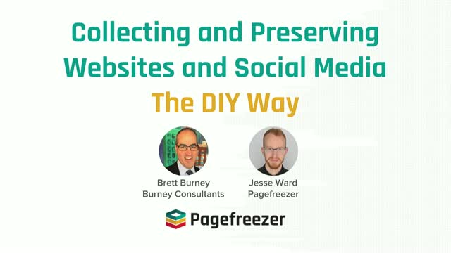 """""""Collecting & Preserving Websites and Social Media — The DIY Way"""""""