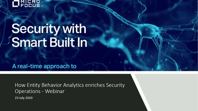 How Entity Behavior Analytics enriches Security Operations