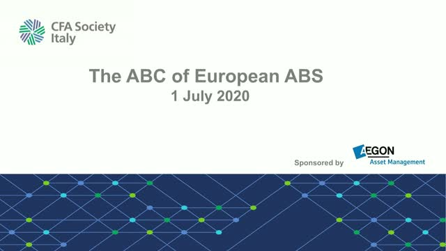 The ABC of European ABS July 1, 2020