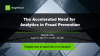 The Accelerated Need for Analytics in Fraud Prevention