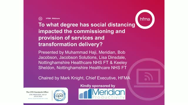 To what degree has social distancing impacted transformation delivery?