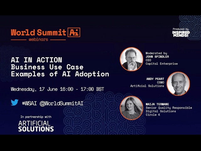 World Summit AI Webinar: Business Use Case Examples of AI Adoption