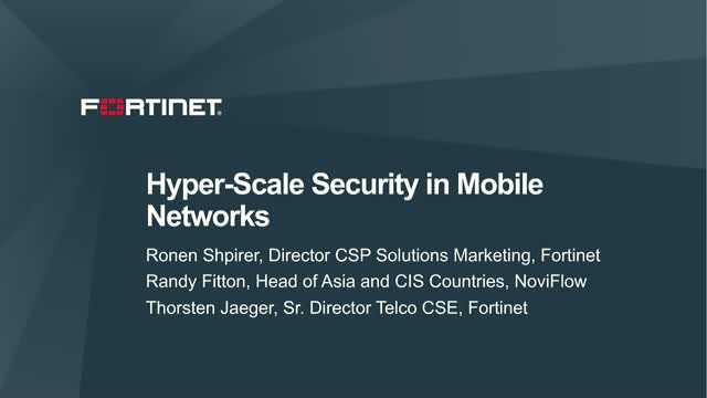 Hyper-scale Security in Mobile Networks
