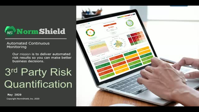 Quantification of 3rd Party Risks