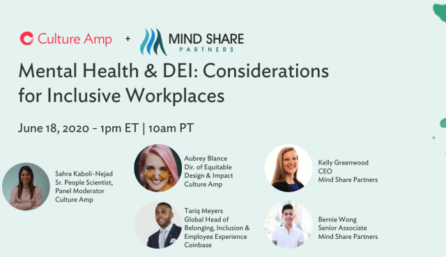 Mental Health & DEI: Considerations for Inclusive Workplaces