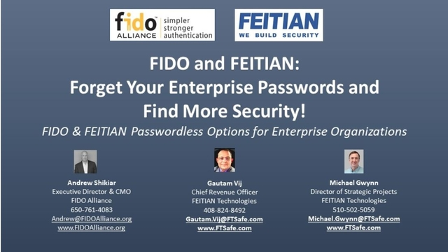 FIDO & FEITIAN: Forget Your Enterprise Passwords & Find More Security!