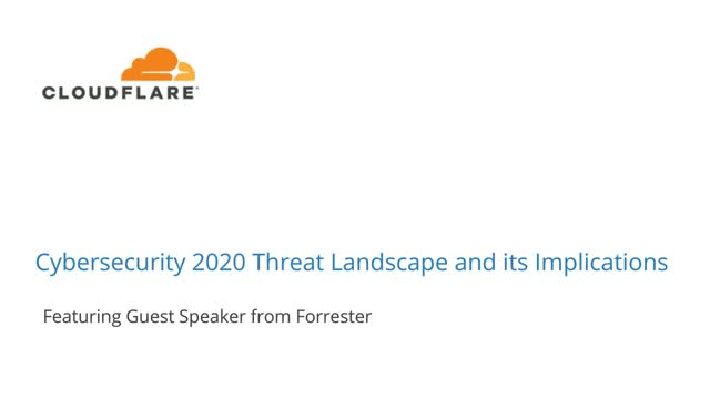 Cybersecurity 2020 Threat Landscape and its Implications