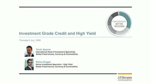 Investment Grade Credit and High Yield