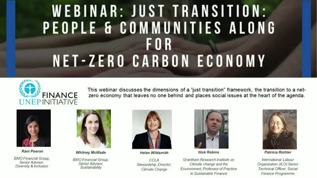 Just transition: People & communities along for net-zero carbon economy