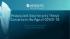Data Privacy and Security Threat Concerns in the Age of COVID-19