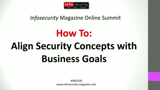 #IMOS20 How To: Align Security Concepts with Business Goals