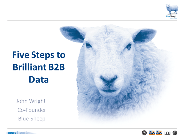 Five steps to brilliant B2B data