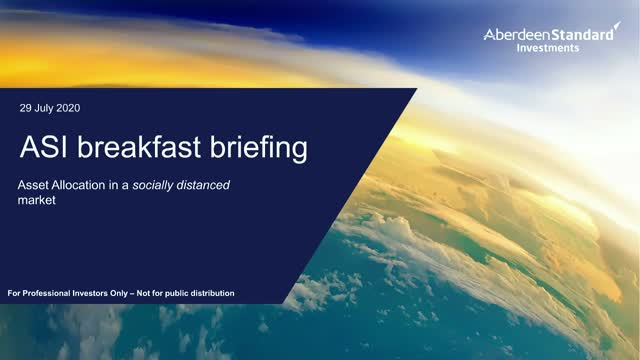 ASI breakfast briefing: Asset allocation in a socially distanced market