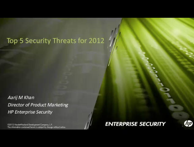 Top 5 Security Threats for 2012
