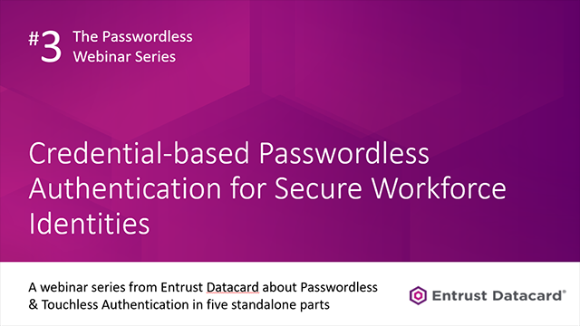 Credential-based Passwordless Authentication for Secure Workforce Identities
