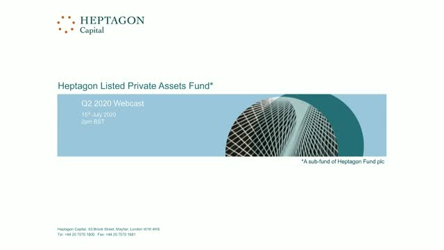 Heptagon Listed Private Assets Fund Q2 2020 Webcast