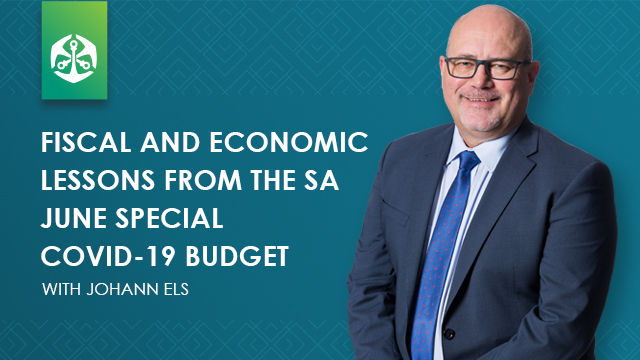 Fiscal and economic lessons from the SA June Special COVID-19 Budget