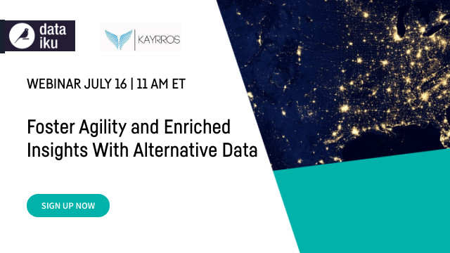 Foster Agility and Enriched Insights With Alternative Data