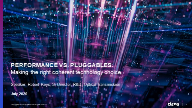 Performance vs. Pluggables. Making the Right Coherent Technology Choice.