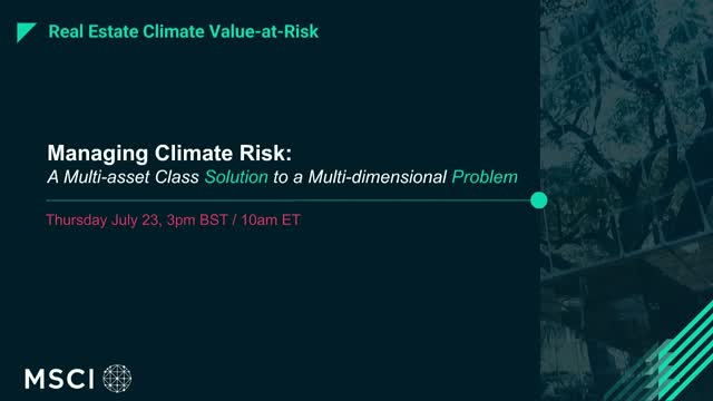 Climate Risk: A Multi-Asset Class Solution to a Multi-Dimensional Problem