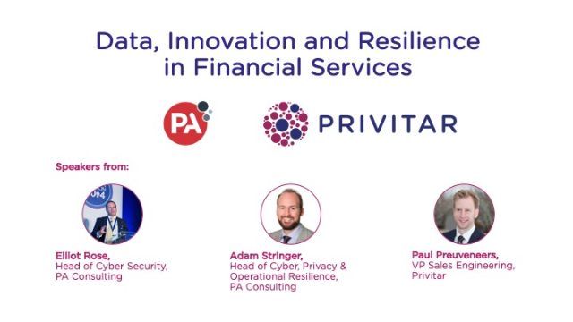 Data, Innovation and Resilience in Financial Services