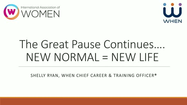 THE GREAT PAUSE Continues….New Normal = New Life