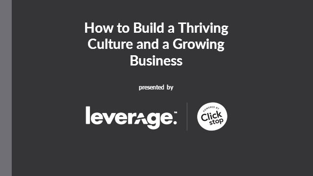 How to Build a Thriving Culture and a Growing Business