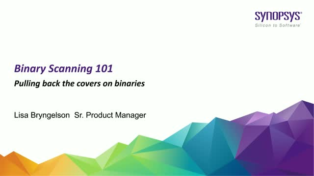 Binary Scanning 101: Pulling back the covers on binaries