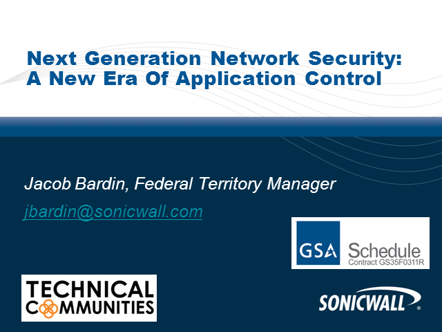Next-Generation Firewall for Federal: Enabling Application Control