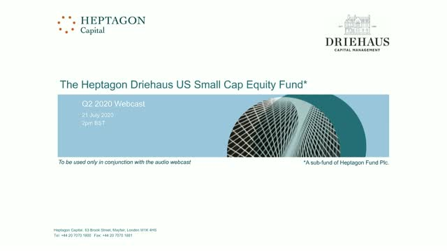 Driehaus US Small Cap Equity Fund Q2 2020 Webcast