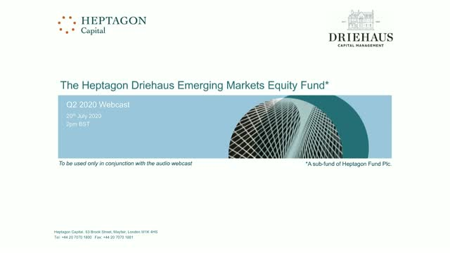 Driehaus Emerging Markets Equity Fund Q2 2020 Webcast