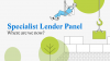 Specialist Lender Panel – Where are we now?