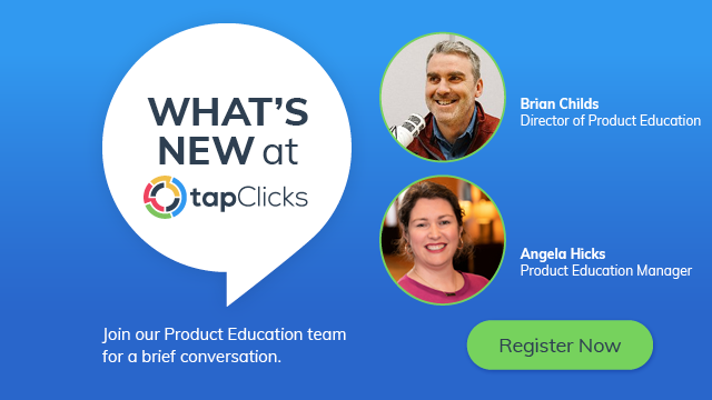 What's New at TapClicks - Aug 2020