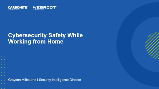 Cybersecurity Safety While Working from Home