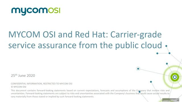 Cloud Native Assurance with Red Hat + MYCOM OSI