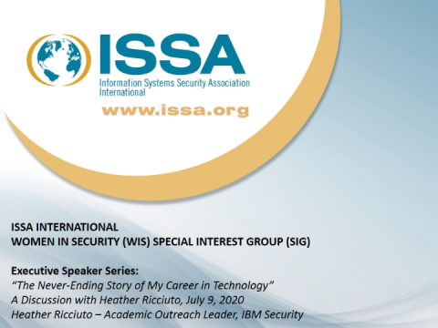 A discussion presented by the Women in Security Special Interest Group