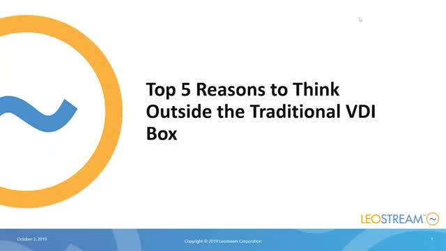 Top 5 Reasons To Think Outside The Traditional VDI Model