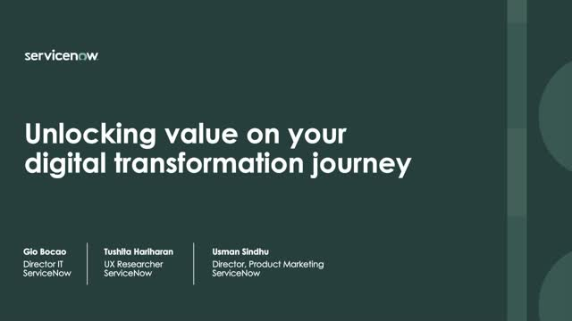 CIO Priorities: Unlocking value on your digital transformation journey
