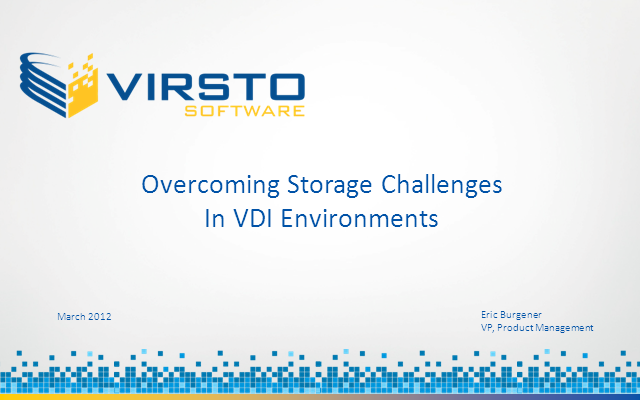 Overcoming Storage Challenges in VDI Environments