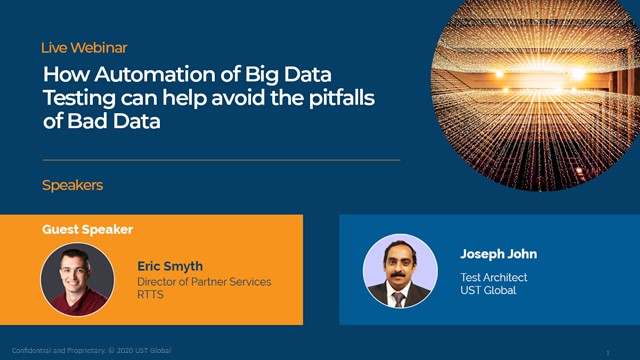 How Automation of Big Data Testing can help avoid the pitfalls of Bad Data