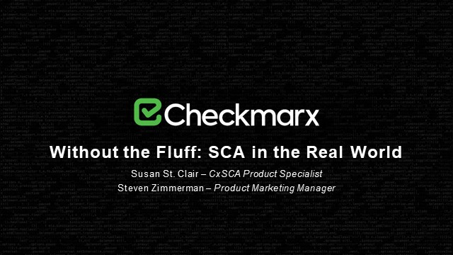 Without the Fluff: SCA in the Real World