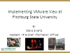 Implementing VMware View at Fitchburg State University