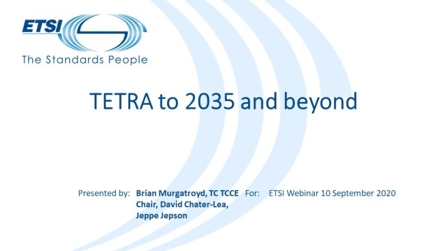 TETRA to 2035 and beyond
