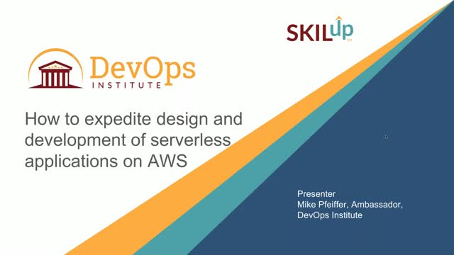 How to expedite design and development of serverless applications on AWS