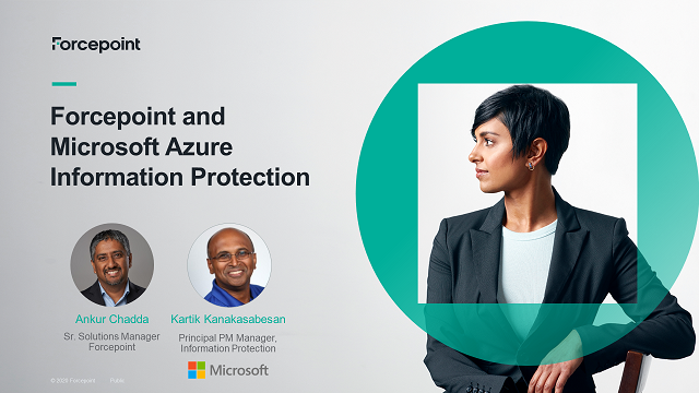 Forcepoint and Microsoft AIP: Automating Data Protection for Cloud Transition