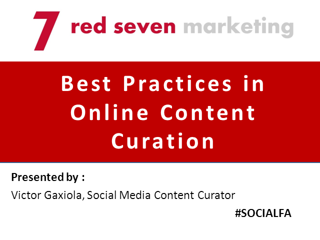 Best Practices in Online Content Curation