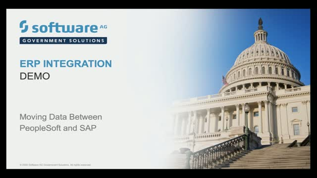 webMethods Demo - Moving Data between PeopleSoft and SAP