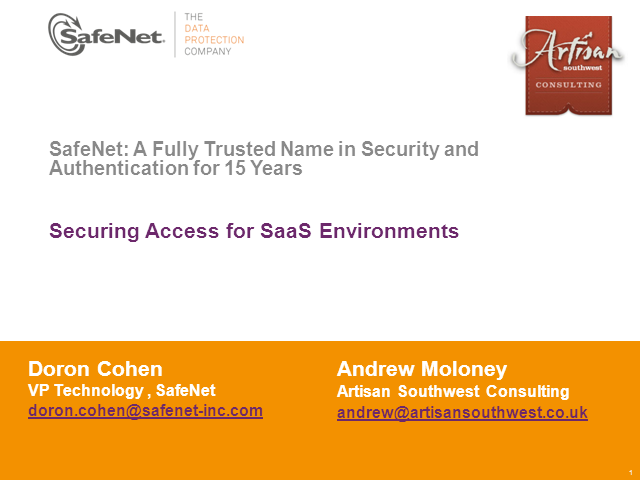 New Webinar - Securing Access Control for SaaS Environments
