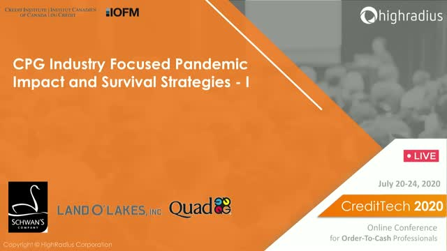 CPG Industry Focused Pandemic Impact and Survival Strategies - I